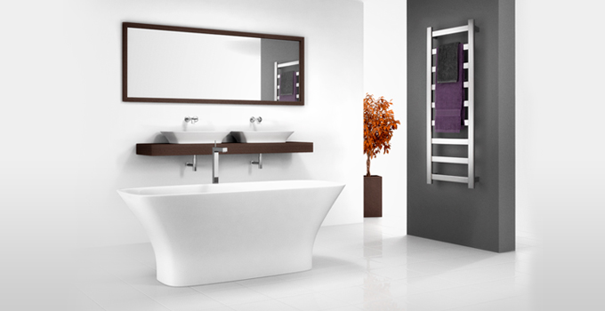 hero image for heated towel rails